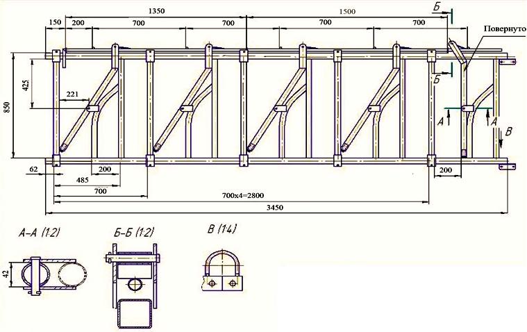 Размеры и схема монтажа хедлока